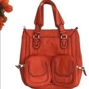 Aimee Kestenberg Orange Leather Satchel Crossbody